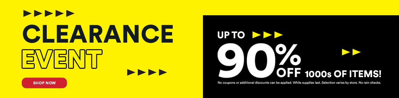 Clearance Event Up to 90% OFF 1000s of Items!