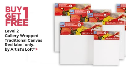 Buy One Get One Free Level 2 Gallery Wrapped Traditional Canvas Red Label only by Artist's Loft