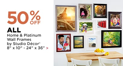 50% OFF All Home & Platinum Wall Frames by Studio Décor