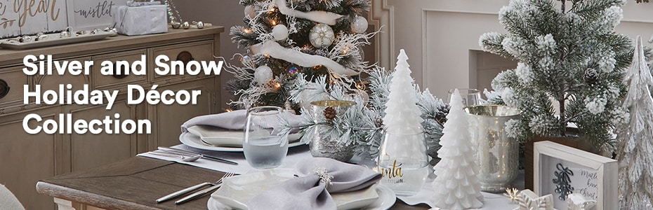 Silver and Snow Holiday Décor Collection