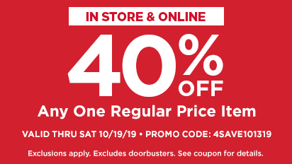 40% OFF Any One Regular Price Purchase