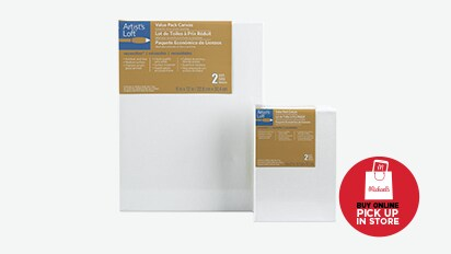 50% OFF ALL Value 2 pk. Canvas. Reg. 2.99 - 19.99. Buy Online Pick Up In-Store