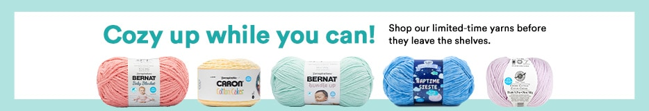 Cozy up while you can! Shop our limited-time yarns before they leave the shelves.