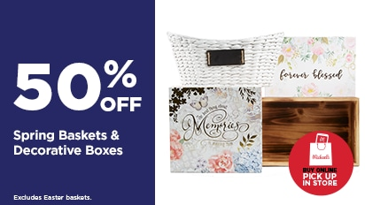 50% OFF Spring Baskets & Decorative Boxes. Buy Online Pick Up In-Store