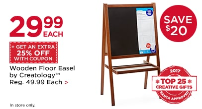 $29.99 Each + Get An Extra 25% Off With Coupon Wooden Floor Easel by Creatology