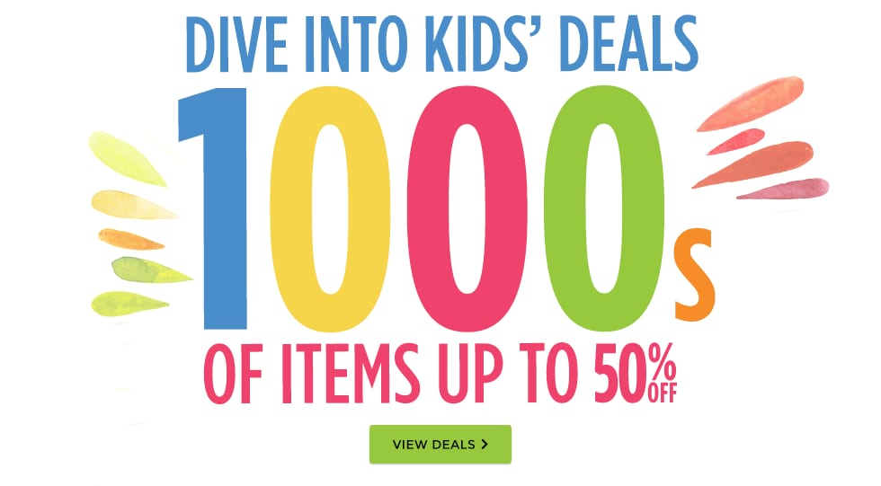 Thousands of Kids' Summer Items Up to 50% Off