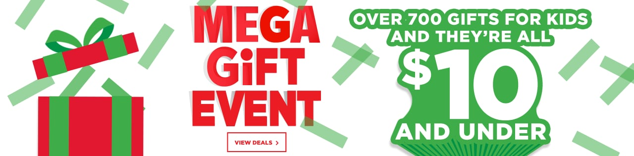 Mega Gift Event - Kids Gifts $10 & Under