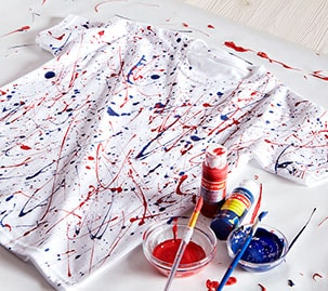 Patriotic Paint Splatter T-Shirt