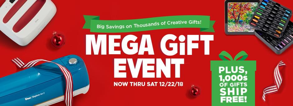 Big savings on thousands of creative gitfs! Mega Gift Event. Now thru Sat 12/22. Plus, 1,000s of gifts ship free! Shop all gifts