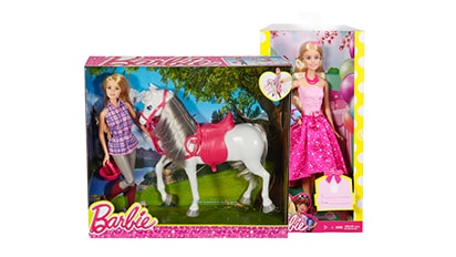 40% OFF BARBIE™ Dolls, playsets & vehicles.