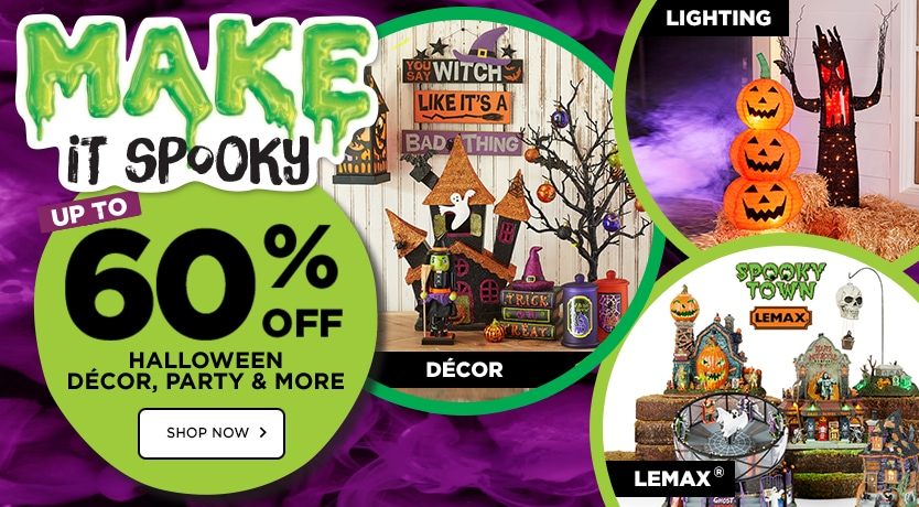 MAKE it Spooky -  Up to 60% OFF Halloween Décor, Party & More by Ashland