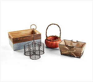 Fall Baskets & Containers