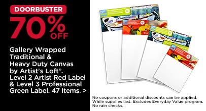 DOORBUSTER 70% OFF Gallery Wrapped Traditional & Heavy Duty Canvas by Artist's Loft