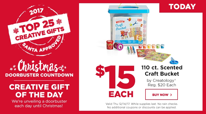 Countdown to Christmas $15 110 ct. Scented Craft Bucket by Creatology