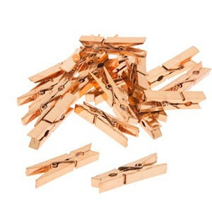 Copper Wooden Clothespins