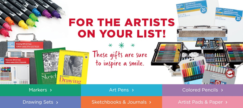 For the Artists on your list! These gifts are sure to inspire a smile