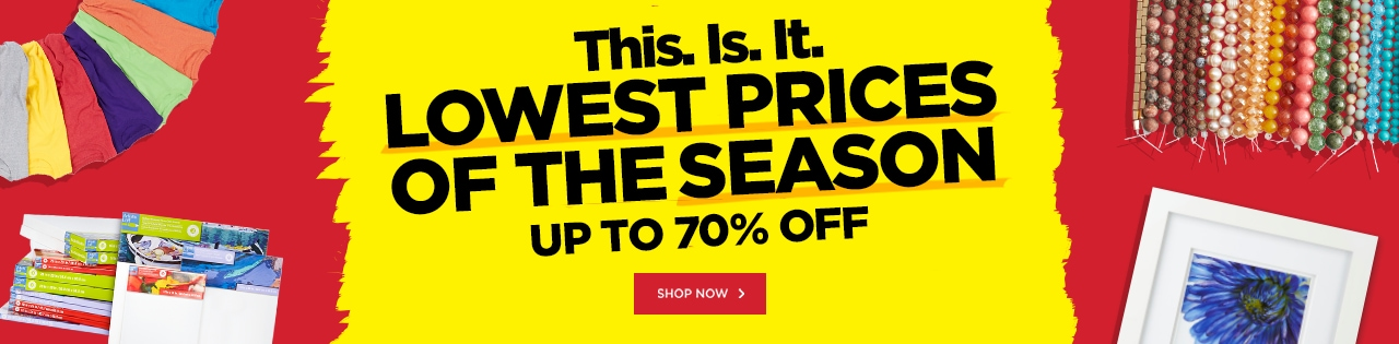 LOWEST PRICES OF THE SEASON – Up to 70% OFF!