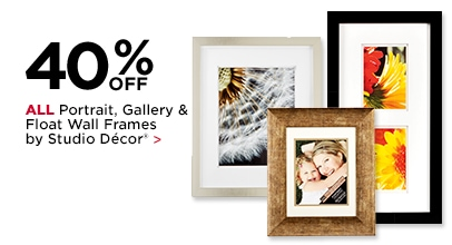 40% Off ALL Portrait, Gallery & Float Wall Frames by Studio Décor