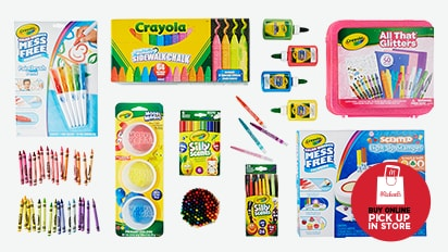 BUY ONE, GET ONE 50% OFF ALL Crayola®. Buy Online Pick Up In-Store
