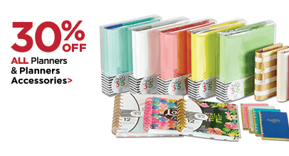 30% OFF ALL Planners & Planner Accessories