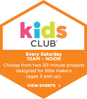 Kids Club! Every Saturday 10am - noon