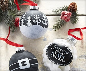 Create your own ornaments.