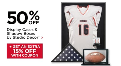 50% Off Display Cases & Shadow Boxes by Studio Décor + 15% Off Coupon