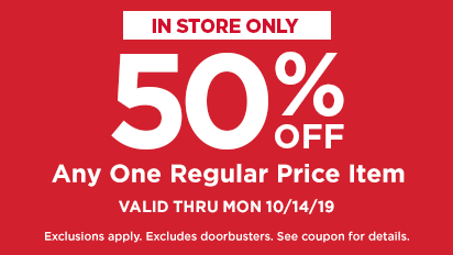 50% OFF Any One Regular Price Purchase