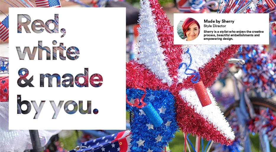 Red, white & made by you