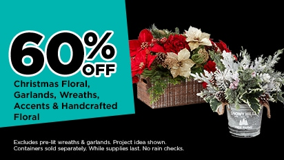 60% OFF Christmas Floral, Garlands, Wreaths, Accents & Handcrafted