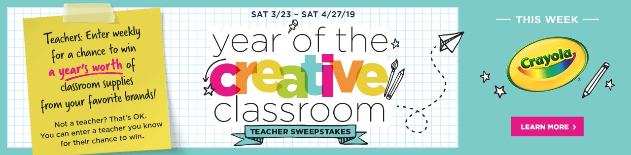 Year of the Creative Classroom Teacher Sweepstakes