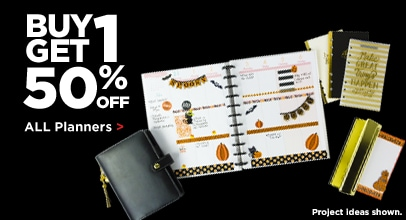Buy One Get 1 50% Off All Planners