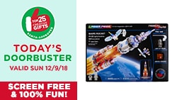 30% OFF Laser Pegs Construction kits. Today's Doorbuster Valid 12/9/18 - Top 25 Gifts Countdown to Christmas