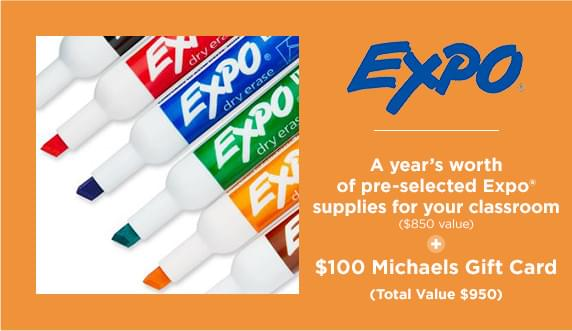 a years worth of pre-selected Expo supplies for you classroom