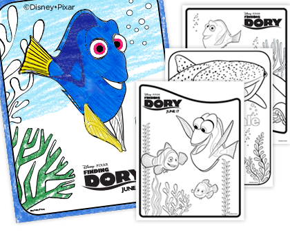 Finding Dory Printable Coloring Pages