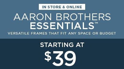 Aaron Brothers Essentials - Versatile Frames that Fit Any Space or Budget - Starting at $39