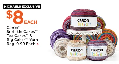 $8 Each Caron Sprinkle Cakes, Tea Cakes & Big Cakes Yarn