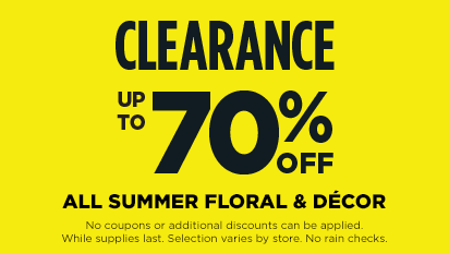 CLEARANCE – Up to 70% OFF ALL Summer Floral & Décor