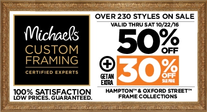 50% + 30% Off Hampton & Oxford Street Frame Collections