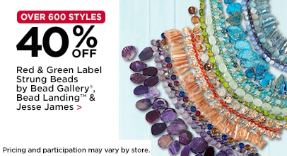 40% Off Red & Green Label Strung Beads