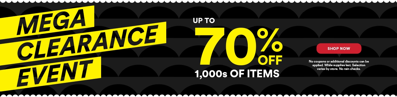 Mega Clerance Event Up to 70% OFF 1,000 Of Items