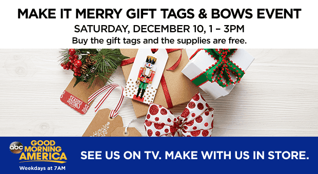 Make It Merry Gift Tags & Bows Event