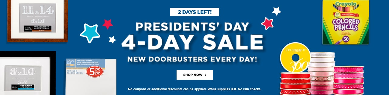 Presidents' Day 4-Day Sale – 2 Days Left