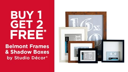 Buy One Get Two Free: Belmont Frames & Shadow Boxes by Studio Décor ®
