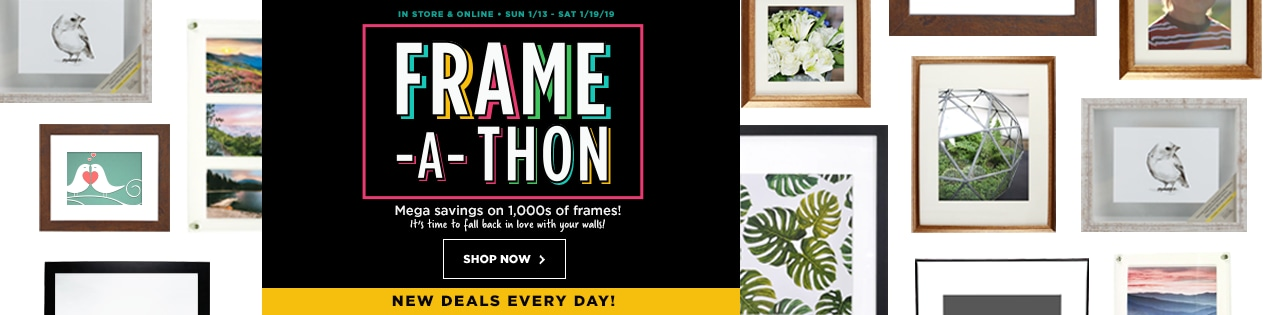 In store & Online Frame -A- Thon Mega savings on 1000s of frames!