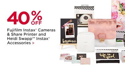 40% Off Fujifilm Instax Cameras & Share Printer and Heidi Swapp Instax Accessories