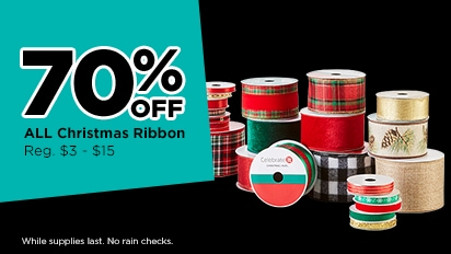 70% OFF ALL Christmas Ribbon