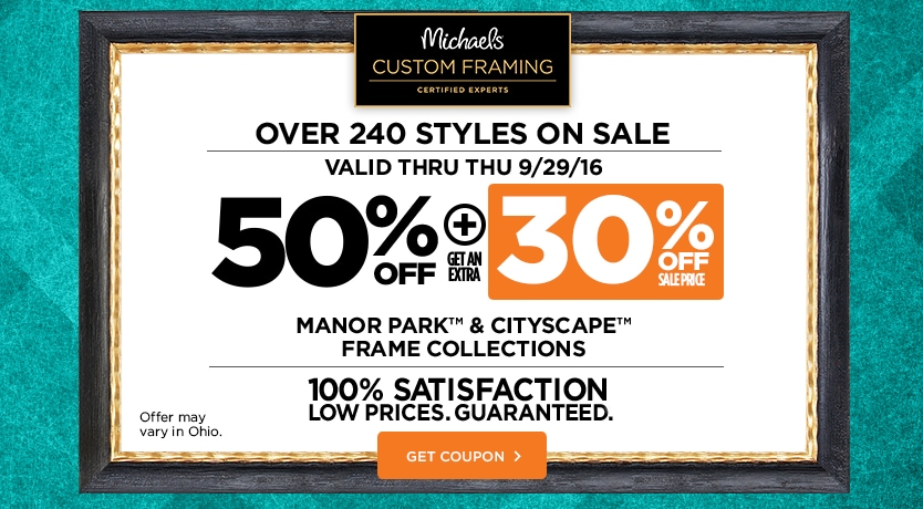 50%+30% Off Manor Park™ & Cityscape Custom Frame Collections
