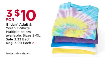 3 FOR $10 Gildan Adult & Youth T-Shirts