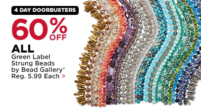 60% Off All Strung Beads by Bead Gallery, Bead Landing & Darice